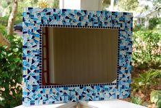 Mosaic Art Large Wall Mirror Custom by GreenStreetMosaics on Etsy, $150.00