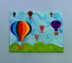 Hot Air Balloons by CleverOwlCreations on Etsy, $50.00