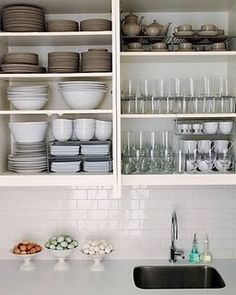 Kitchen Cabinet Tips U0026 Tricks :: Carrie @ {P.}u0027s Clipboard On Hometalk ::  Hometalk.     Organize Kitchen Cabinets With Mini Shelves To Stack Dishes  Or Cups!