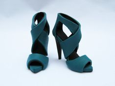 Miniature High Heel Shoes  Handmade from Polymer Clay by YinyingO