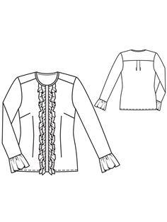 Блузка з потайною застібкою і оборками: купити викрійки, пошиття і моделі | Burdastyle