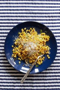 Deconstructed Street Corn - corn, jalepeno, balsamic vinegar, parmesan.  Wall Street Journal - Off Duty