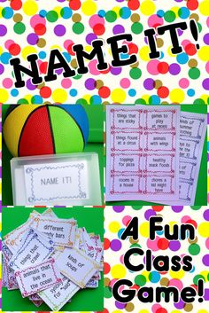 Teaching My Friends!: Name It! A Game FREEBIE