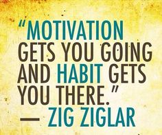 I love this quote, and so many others by Zig Ziglar. This particular one inspired me to apply commitment and consistency with my desire to become a runner.  Application!!