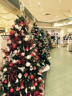 christmas trees up already for christmas in david jones australia - Christmas Decorations Australia