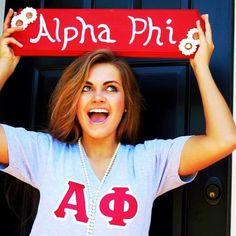 Happy To Be Alpha Phi #AlphaPhi #APhi #sorority