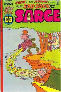Sad Sack Cartoon | Sad Sack and the Sarge 122-A by Harvey