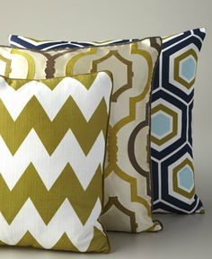 change up your sofa or bedroom pillows! pop of color freshens up the room and is inexpensive!