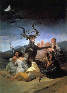 """Francisco de Goya. Sabbat des sorcières. Madrid, Museo L. Galdiano, 1798. conférence """"les images du diable"""", Angers"""