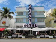 Deco with a capital D- Colony Hotel in Miami Beach, Florida
