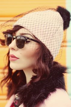 love her style! stylish and corky Valentine Hats, Fancy Hats, Fair Isles, Womens Glasses, Celebs, Celebrities, Urban Fashion, Style Fashion, Fall Winter Outfits