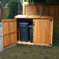 Outdoor Living Today Storage, Tool & Garden Shed OSCAR63 6-ft x 3-ft Cedar Oscar Waste Management Shed