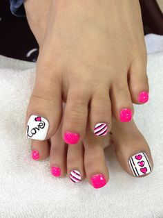 Pink and White with hearts, it's not only for Valentine's Day:)
