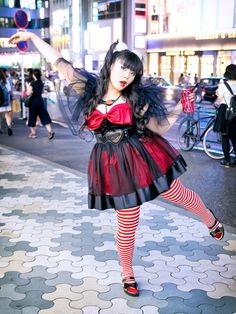 Always-fun Japanese designer Vivi on the street in... | Tokyo Fashion