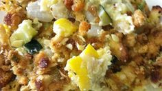 It's neither bird nor plane - just a great summer recipe! This squash casserole is filled with flavor and baked with a wonderful stuffing crust.