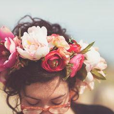 lush floral crown