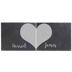 The Big Card Company Personalised Two Hearts Slate Coaster Set Slate Coasters, Card Companies, Two Hearts, Personalised Gifts, Placemat Sets, Coaster Set, Amazon, Big, Cards