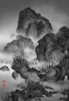 Artificial Wonderland - traditional chinese landscape paintings and modernized chinese cities- Yang Yongliang