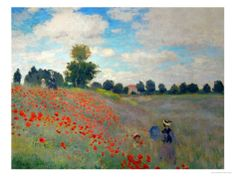 one of my favorites!  The Poppy Field, 1873 Giclee Print by Claude Monet  [Art.com]