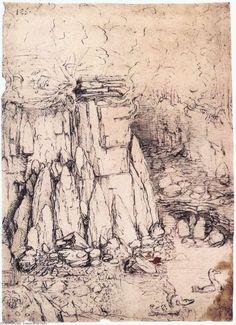 Leonardo Da Vinci-étudier feuille avec chevaux