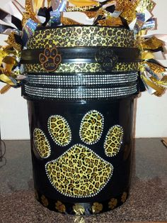 Finally finished my daughters cheer bucket!