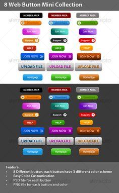 8 Web Button Mini Collection