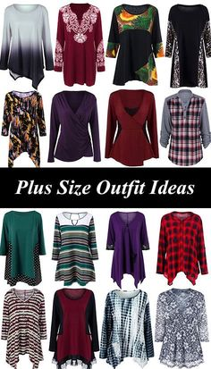 ANY Size Outfit Ideas - these tunic styles look great on all shapes and sizes (warning, the site its linked to tends to size smaller than American sites) Cute Fashion, Fashion Outfits, Womens Fashion, Fashion Styles, Top Fashion, Beautiful Outfits, Cool Outfits, Vetements Clothing, Plus Size Tank Tops