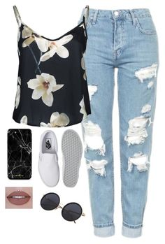 """""""Very cute, yet simple 17"""" by lollypopz951 ❤ liked on Polyvore featuring Topshop and Vans"""