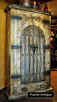 Armoire with old world charm...