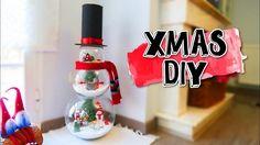 Muñeco de nieve con esferas de cristal | Ideas fáciles para Navidad