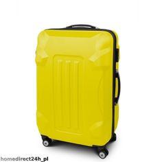 Walizka podróżna bagaż ABS ARMOR rozmiar XL Żółty