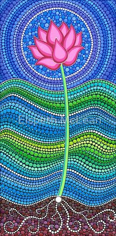"""inspiration - Elspeth McLean - """"Painting dots is a meditative and grounding experience which is so enjoyable she has dedicated her life to it. Mandala Art, Mandala Painting, Mandala Meditation, Dot Art Painting, Stone Painting, Kunst Der Aborigines, Elspeth Mclean, Aboriginal Art, Stone Art"""