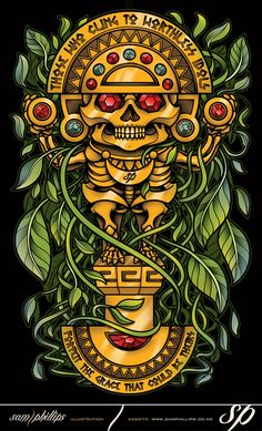 """Those who cling to worthless idols, Forfeit the grace that could be theirs."" Inca Sun god Totem by Sam-Phillips-NZ on DeviantArt Tattoo Inca, Peru Tattoo, Mayan Tattoos, Indian Tattoos, Tribal Tattoos, Inka Tattoo, Inca Art, Aztec Drawing, Aztecas Art"