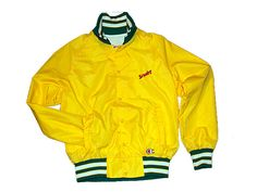 "Vintage ""Squirt"" Baseball Jacket by Champion - $65"