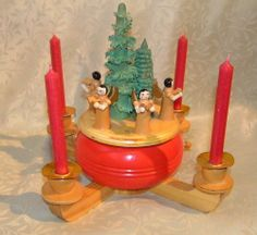 Vintage Nice Erzgebirge German Wooden Christmas Pyramid Music Box Handpainted | eBay