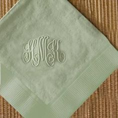 Embossed Cocktail Napkins-Embossed,Cocktail,Napkins,party,celebrate,host,hostess,bar,birthday,gift,present,personalized,monogrammed,house,warming