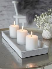 Rectangular Concrete Grey Tray on The Cedrus Cement Art, Concrete Crafts, Concrete Art, Concrete Projects, Concrete Design, Concrete Planters, Diy Candles, Pillar Candles, House Candles