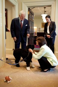 Senator and Mrs. Kennedy with Bo