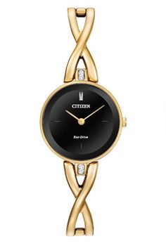 Citizen Eco-Drive Silhouette EX1422-54E Silhouette| Ladies Yellow Gold Watch| Andrewsjewelers.com | Andrews Jewelers, Buffalo NY