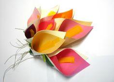 Moderno ramo de flores de papel lirios manualidad facil barato  # Paper flowers DIY craft easy  wed quince birthday decor