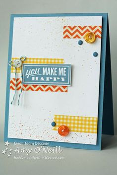 Stampin' Up! Card by Amy O: Washi Makes Me Happy