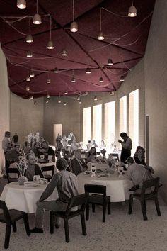 Restaurant in a Public Garden - Villa Croce, Genova, Italy - Student Project by Logan Amont (Atelier Amont) | Professor Quintus Miller 2012-2013