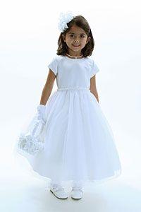 Flower Girl Dresses - US Angel Flower Girl Dress Style 243 US Angels Designer- SALE White sizes 7,8,10 or 12