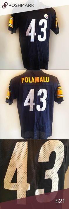 bf0e03261 Pittsburgh Steelers Troy Polamalu NFL Jersey YXL Pittsburgh Steelers Troy  Polamalu NFL Jersey Authentic NFL Reebok