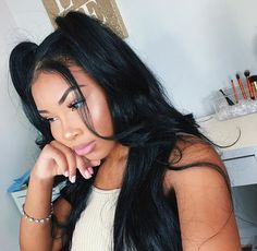 Aaliyah Jay shared by Akira MiCole on We Heart It Black Girls Hairstyles, Pretty Hairstyles, Hair Inspo, Hair Inspiration, Locks, Curly Hair Styles, Natural Hair Styles, Crimped Hair, Hair Laid