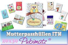 Stickmuster - ITH Stickdatei Mutterpasshüllen ITH Mutterpass ITH - ein Designerstück von Pubimatz bei DaWanda