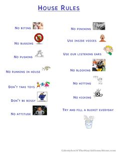 house rules for kids | That's it! That's how we run things around here and a lot of the time ...