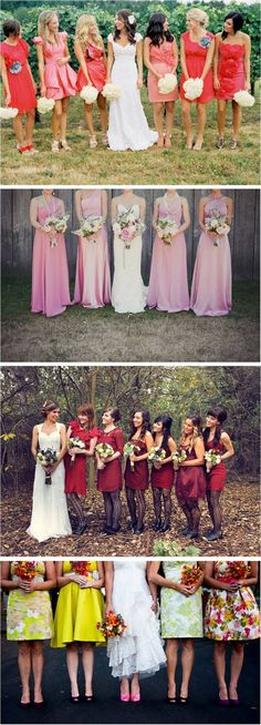OMG I didn't even see the bottom picture before I pinned it the first time LOL.  But that is adorable!!!!!!!  By far my alltime favorite of any bridesmaids dresses I have ever seen!  I'm such a vintage nerd!