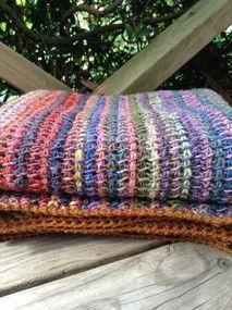 Amazing Tunisian Blanket | Hookedon | madeit.com.au