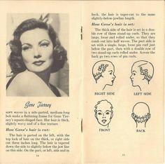 vintage hair pin curl chart - Google Search